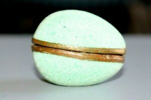 UNUSUAL EGG SHAPED VINTAGE BOX FOR JEWELLERY / RING / BROOCH / PENDANT ETC. .