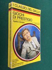 Agatha CHRISTIE - GIOCHI DI PRESTIGIO Giallo Mondadori Classici/245 (1976) Libro