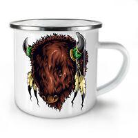 Bull Spirit NEW Enamel Tea Mug 10 oz | Wellcoda