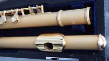 Querflöte 24 Kt Gold sandgestrahlt Flute Traversiere  D OR Flauta Oro Flauti OR