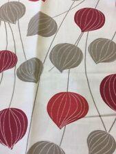 John Lewis Lanterns In Red And Beige 1.1 Metre Piece Linen Cotton Mix