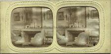 Véstibule Boudoire Palais des Tuileries ? Photo Stereo Vintage Diorama Tissue