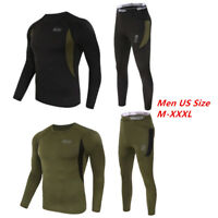 Men Adult Thermal underwear Long Johns Sweater Shirt and Pant Quick Dry US Size