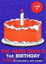 THE HARD DOCK Rave Flyer Flyers year unknown A4 Liverpool Docklands