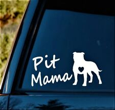 M1103 Pit Mama Pit Bull Pitbull Dog Decal Sticker Car Truck SUV Van Art Pit Mom