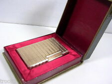BRIQUET ST DUPONT A GAZ PLAQUE OR ANCIEN COLLECTION VERS 1960/70