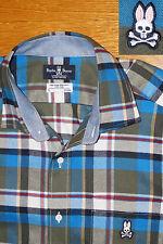 Psycho Bunny Shirt Willow Flannel Single Needle Pima Cotton SEWN LOGO NWOT L men