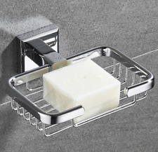 Wall Mounted Square Brass Bathroom Chrome Plated Soap Dishes Holder Bracket