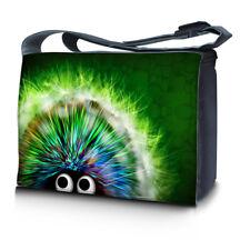 """15.6"""" 15"""" Laptop Notebook Padded Compartment Shoulder Messenger Hedgehog Eyes"""