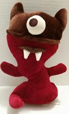 The Starbucks Coffee Company Red and Brown Plush One Eyed Monster