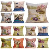 Retro 18inch Cotton Linen Throw Pillow Case Waist Cushion Cover Home Sofa Decor