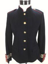 Ralph Lauren Blazer LRL Military Jacket w Crest Buttons Navy Blue sz 2 $240 New
