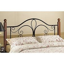 Milwaukee Wood Post Headboard - King - without Rails Textured Black/ Cherry
