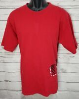 Oakley Shirt Men's Size Large Graphic Red Crew Neck Short Sleeve Cotton  (A22)