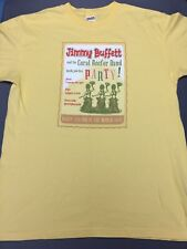JIMMY BUFFETT 2006 PARTY AT THE END OF THE WORLD TOUR T-SHIRT LARGE L YELLOW EUC