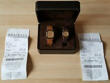 His & Her's Gold Plated Rado Florence Quartz Wrist Watches + Box & Receipts