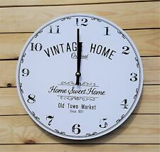 Vintage Shabby Chic Wall CLOCK Home Sweet Home ii