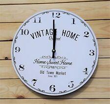 Vintage Shabby Chic Orologio da parete Home Sweet Home