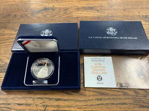 1994 Proof 90% Silver Dollar, US Capitol Bicentennial OGP