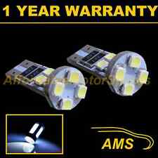 2X W5W T10 501 CANBUS SENZA ERRORI BIANCO 8 LED sidelight lampadine laterali SL101605