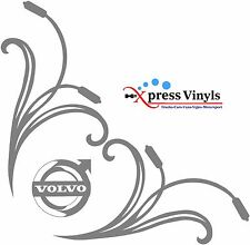 Volvo Truck stickers new style floral cab window vinyl decal   FH FM FE FMX