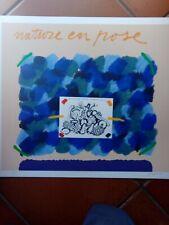 Concetto Pozzati, serigrafia con telai di seta, 50x70, con autentica notarile