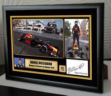 Daniel Ricciardo 2018 Winner F1 Monaco Grand Prix Canvas Print Signed Great Gift