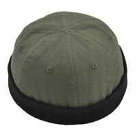 Fashion Unisex Vintage Rolled Fisherman Cap Skull Beanie Dance Party Hat