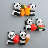 Eg _ Mignon Fruit Tenant Panda Aimant Réfrigérateur Autocollant Café Décor S