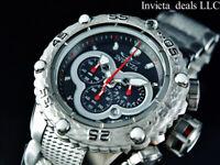 Invicta Men's 52mm Subaqua Noma VI Chronograph Black Dial Silver Tone SS Watch