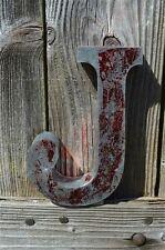 MEDIUM VINTAGE STYLE 3D RED J SHOP SIGN LETTER TIN WALL ART LETTER FONT