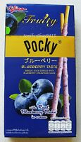 glico POCKY Fruity Blueberry Taste Biscuit Stick Coated with Blueberry Cream