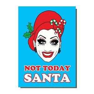 Bianca Del Rio Drag Race Queen Not today Santa Satan Christmas Card