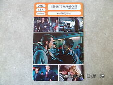 CARTE FICHE CINEMA 2012 SECURITE RAPPROCHEE Denzel Washington Ryan Reynolds