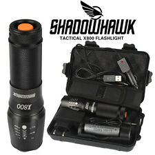 8000lm echte Shadowhawk X800 Polizei Taschenlampe Cree LED Zoom Militär Fackel