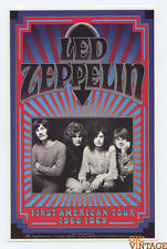 Led Zeppelin Postcard First American Tour Gary Grimshaw 1991
