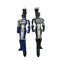Lot of 2 Black & Blue Power Ranger Wristwatch Operation Overdrive Bandai 2006