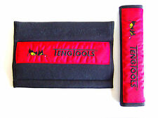 2x TENG TOOLS COCHE Cinturón de seguridad protector rojo y negro P-ps