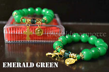 Elegant Glass Rosary Bracelet (Emerald Green- Gold Series)
