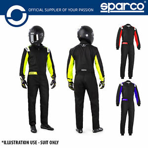 002343 2020 Sparco Rookie Kart Suit Indoor Basic Karting Overalls in 3 Colours