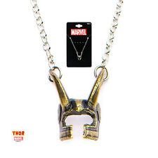 OFFICIAL MARVEL COMICS: THOR - LOKI HELMET PENDANT ON CHAIN NECKLACE (NEW)