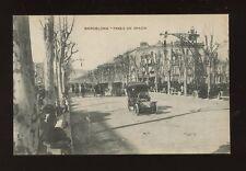 Spain BARCELONA Paseo de Gracia early autos c1900s? PPC