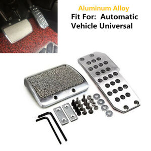 Universal Car Footplate Antiskid Plate Pad Brake Transmission Pedals Automatic