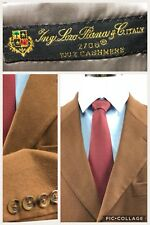 Nordstorm Loro Piana 100% Cashmere Brown 3 Button Men Coat Blazer Size 44