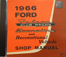 1966 Ford Falcon Club Wagon, Econoline and Recreational Vehicle Shop Manual (CD)