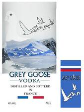 Vodka ( Grey Goose ) Labels Cake Topper ICING