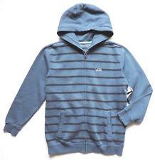 Vans Full Zip Striped Classic Hoodies, Blue, Youth Boy's Size: L