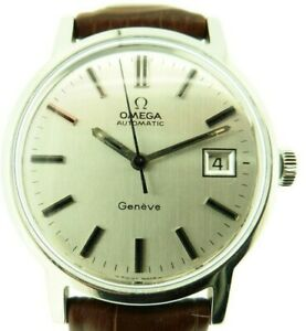 Gent's Automatic Omega Geneve Watch Ref 166098 Cal 1481 Steel Cased 70's Vintage