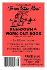 Original Lucky Three Wisemen Run-Down & Work-Out Book - Lottery Book