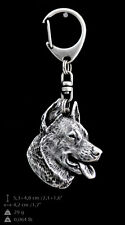 Beauceron, silver covered keyring, high qauality keychain Art Dog